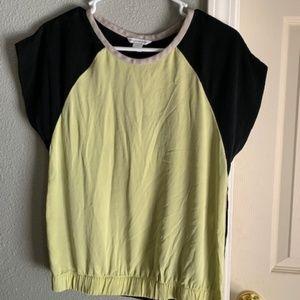 Diane Von Furstenberg Larissa Baseball Tea blouse